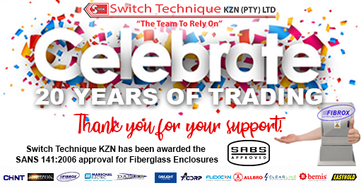 Elinex congratulates Switch Technique on 20 Years of Trading!